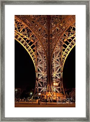 Eiffel Tower At Night Framed Print by Joerg Lingnau
