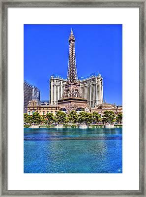 Eiffel Tower Las Vegas Framed Print by Nicholas  Grunas