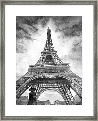 Eiffel Tower Paris France Framed Print by Irina Sztukowski