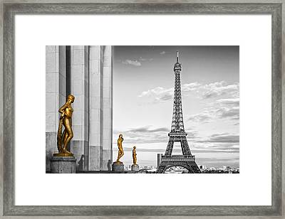 Eiffel Tower Paris Trocadero Framed Print by Melanie Viola