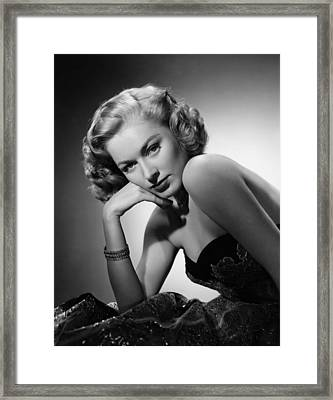 Eleanor Parker, Ca. 1940s Framed Print by Everett