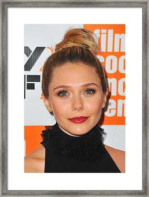 Elizabeth Olsen At Arrivals For Martha Framed Print by Everett