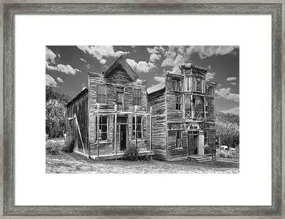 Elkhorn Ghost Town Public Halls - Montana Framed Print by Daniel Hagerman