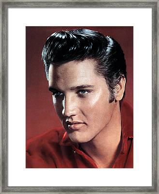 Elvis Presley Framed Print by Everett