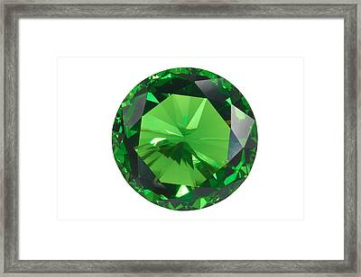 Emerald Isolated Framed Print by Atiketta Sangasaeng