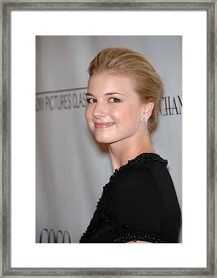 Emily Vancamp At Arrivals For Coco Framed Print by Everett