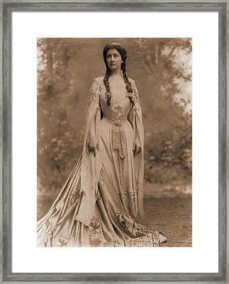 Emma Eames 1865-1952, American Soprano Framed Print by Everett