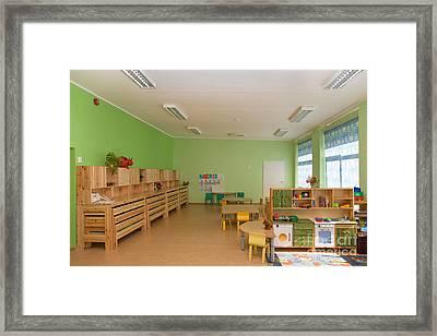 Empty Estonian Elementary Grade School Framed Print by Jaak Nilson