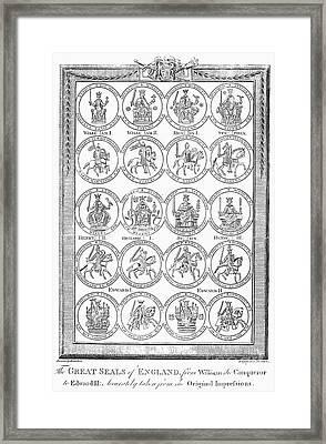 England: Royal Seals Framed Print by Granger