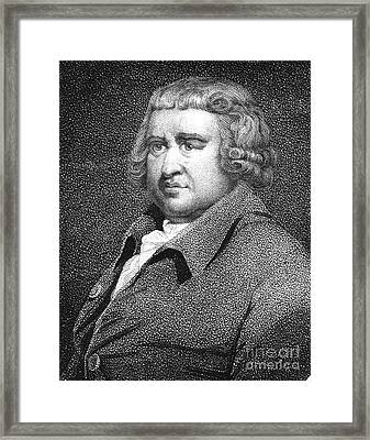 Erasmus Darwin, English Polymath Framed Print by Science Source