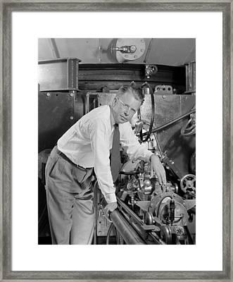 Ernest Orlando Lawrence 1901-1958 Framed Print by Everett