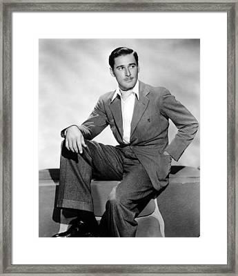 Errol Flynn, 1930s Framed Print by Everett