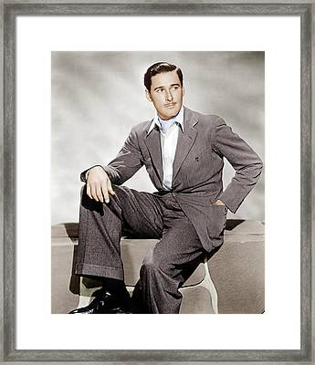 Errol Flynn, Ca. 1930s Framed Print by Everett