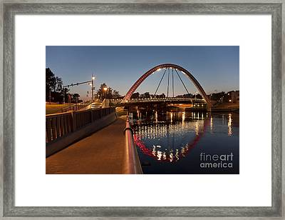 Estonian Bridge And Archway Framed Print by Jaak Nilson