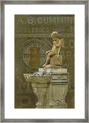 Even Angels Need A Smoke Framed Print by Ron Jones