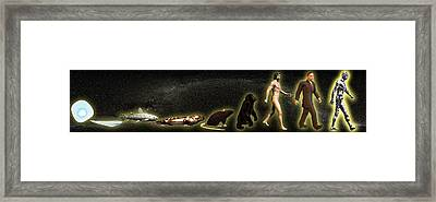 Evolution Of Man Framed Print by Christian Darkin