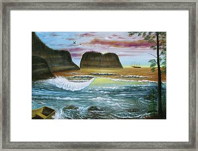 Exploring Inland Framed Print by Gene Gregory