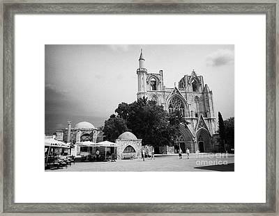 Exterior Of Lala Mustafa Pasha Mosque Old Town Of Famagusta Turkish Republic Of Northern Cyprus Trnc Framed Print by Joe Fox