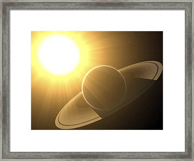 Extrasolar Planet Pollux B, Artwork Framed Print by Chris Butler