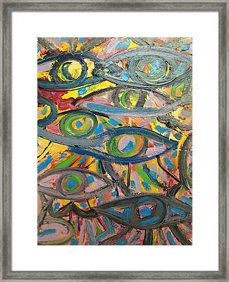 Eyes In Disguise Framed Print by Forrest Kelley
