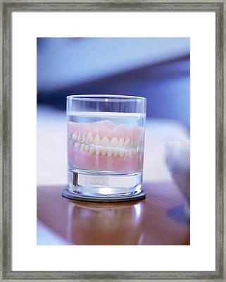 False Teeth Framed Print by Lawrence Lawry