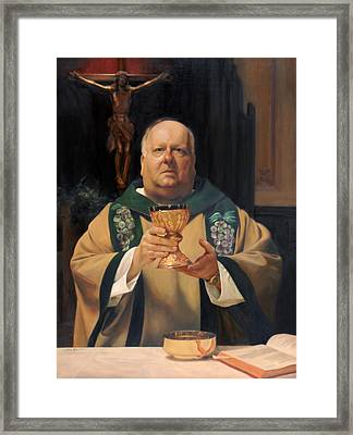 Father Tom Butler Framed Print by Anna Rose Bain