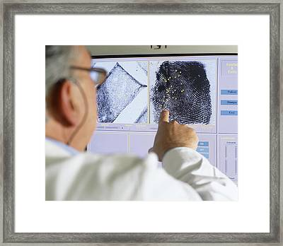 Fingerprint Analysis Framed Print by Mauro Fermariello