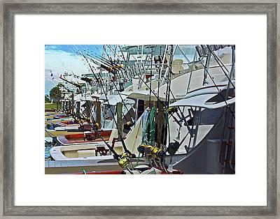 Fishing Fleet Framed Print by Michael Thomas
