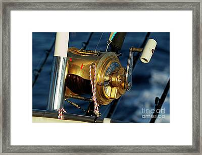 Fishing Rods Framed Print by Sami Sarkis