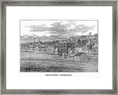 Flood: Clarksville, 1874 Framed Print by Granger