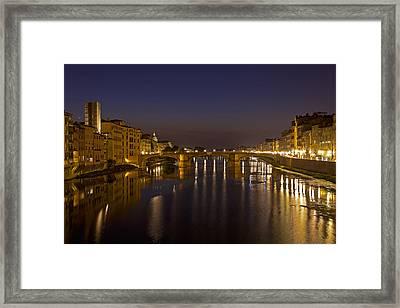 Florence - Ponte San Trinita Framed Print by Joana Kruse