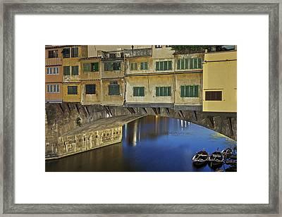 Florence - Ponte Vecchio Framed Print by Joana Kruse