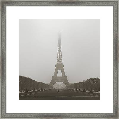 Foggy Morning In Paris Framed Print by Metro DC Photography