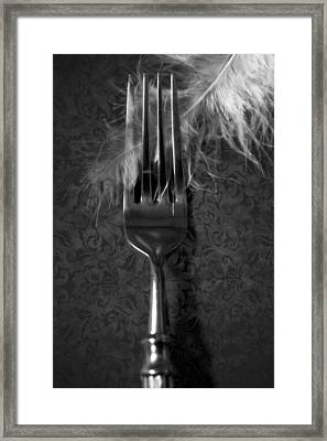 Fork And Feather Framed Print by Joana Kruse
