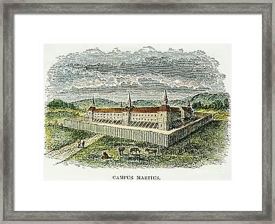 Fort Marietta, Ohio, C1790 Framed Print by Granger