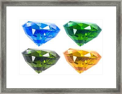 Four Diamond Framed Print by Atiketta Sangasaeng