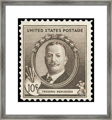 Frederic Remington Framed Print by Granger