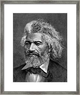 Frederick Douglass Ca. 1817-1895 Framed Print by Everett