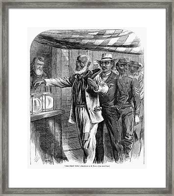 Freedmen Voting, 1867 Framed Print by Granger