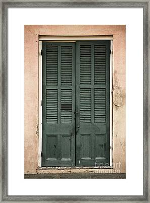 French Quarter Doors Framed Print by Leslie Leda