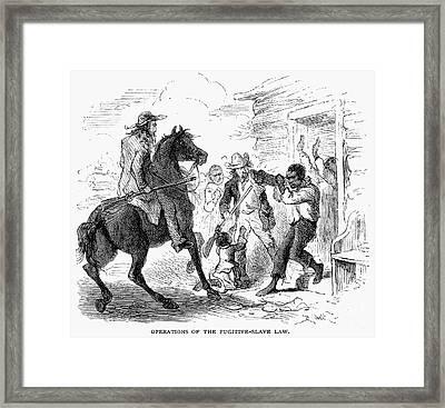 Fugitive Slave Act, 1850 Framed Print by Granger