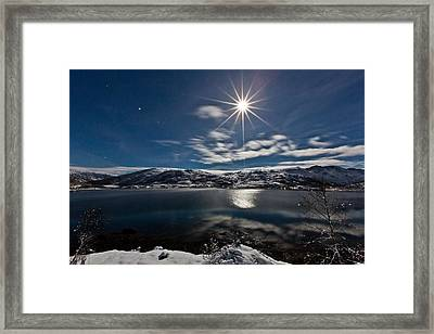 Full Moon Framed Print by Frank Olsen