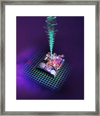 Future Computing, Conceptual Image Framed Print by Richard Kail