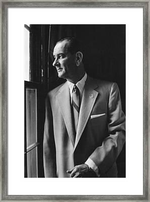 Future President Lyndon Johnson Framed Print by Everett