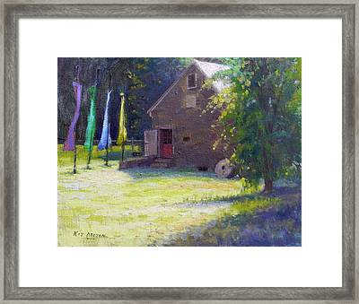 Gallery At Prallsville Mill Framed Print by Kit Dalton
