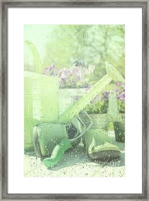 Garden Tools For Spring Planting  Framed Print by Sandra Cunningham