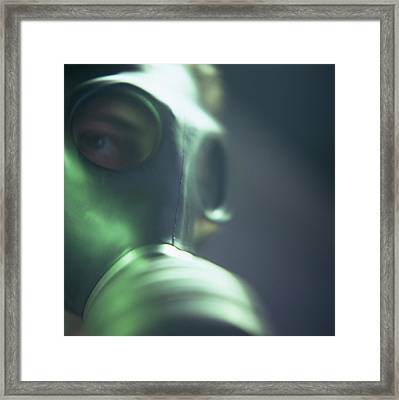 Gas Mask Framed Print by Cristina Pedrazzini