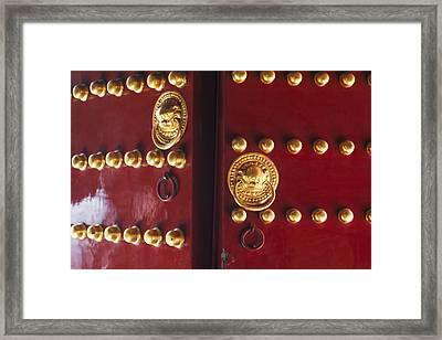 Gate To Temple Of Heaven Framed Print by George Oze