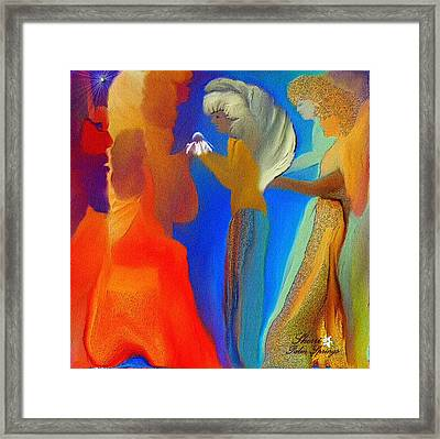 Gathering Of Angels Framed Print by Sherri  Of Palm Springs
