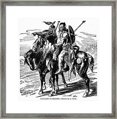 Gaulish Warriors Framed Print by Granger